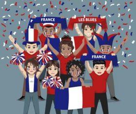 France fan club vector