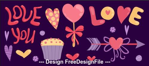 Free valentines day banner vector