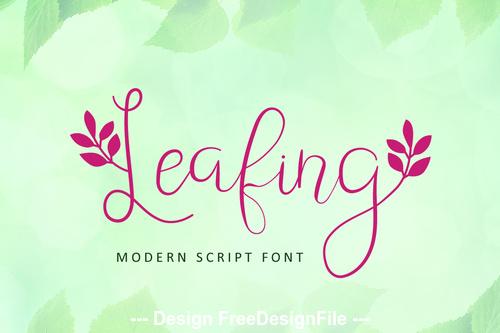 Fresh leafing font