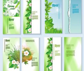 Fresh spring flyer template vector