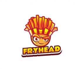 Fry head mascot logo vector