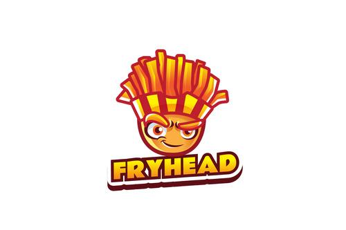Fry head mascot logo vector
