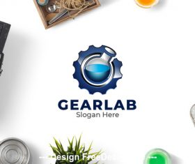 Gear lab logo vector