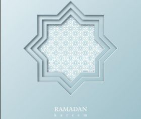 Geometric background beautiful muslim illustrations vector