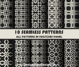 Geometric black seamless pattern vector