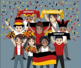 Germany fan club vector