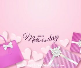 Gift card for mothers day vector