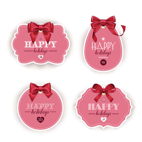 Gift tags of different shapes vector
