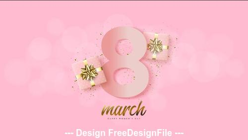 Gifts and greeting cards womens day vector