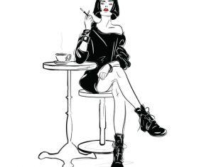 Girl art illustration vector design