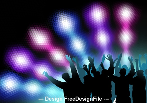 Glitter neon background party vector