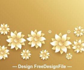 Golden background flowers decoration design vector