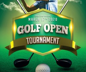 Golf Tournament PSD Flyer Template