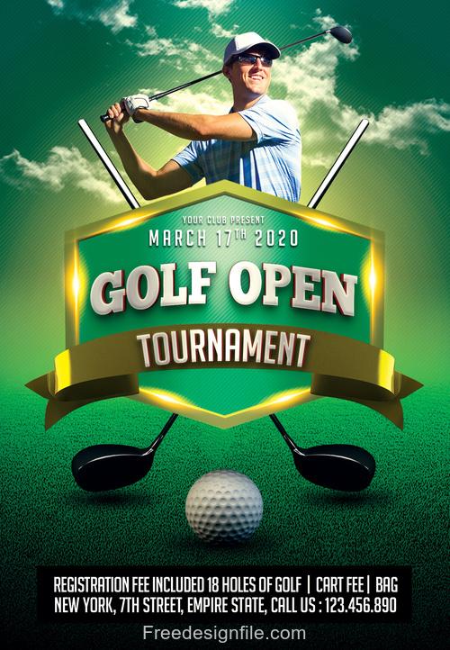 Golf Tournament PSD Flyer Template