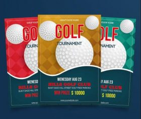 Golf tournament poster vector