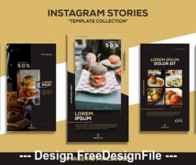Gourmet post design templates vector