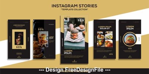 Gourmet post design templates vector