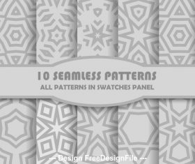 Gray geometric seamless pattern vector