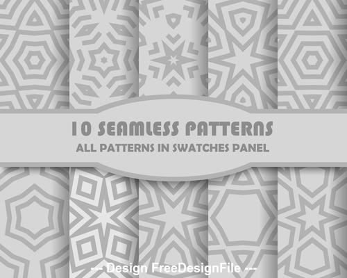 Gray geometric seamless pattern vector