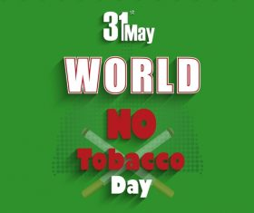 Green background quit smoking poster vector