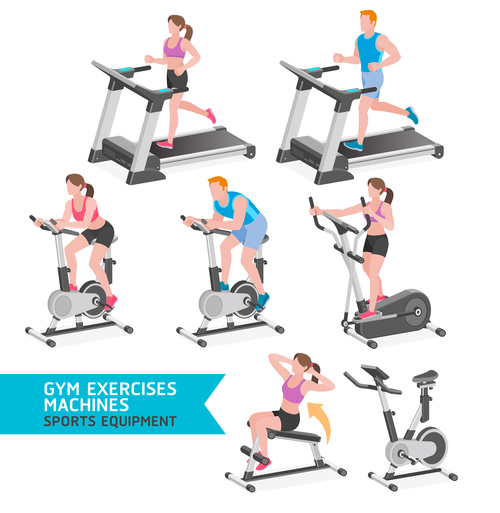 Gym sport icon vector