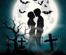 Halloween love vector