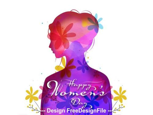 Hand drawn march 8 international womens day greeting card vector