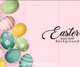 Hand painted Easter egg background vector