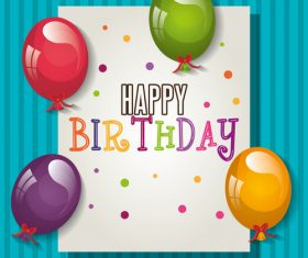 Handwritten birthday card vector