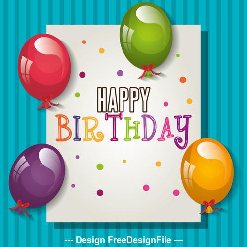 Handwritten birthday card vector