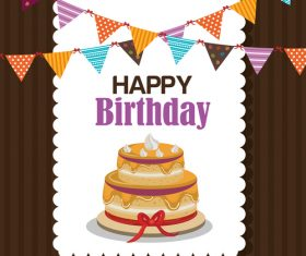 Happ birthday design greeting card vector