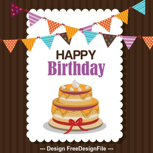 Happ birthday design greeting card vector