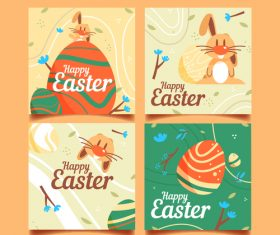 Happy Easter decorative illustration vector