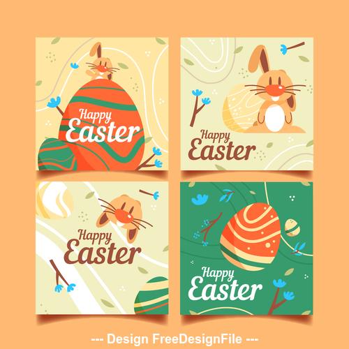 Happy Easter decorative illustration vector