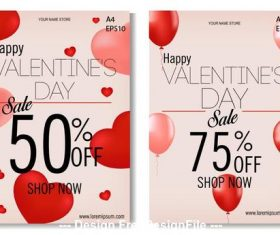 Happy Valentines day sales allowance card vector