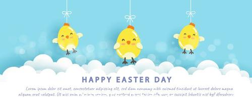 Happy easter day illustration vector