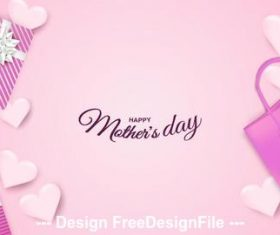 Happy mothers day vector greeting card