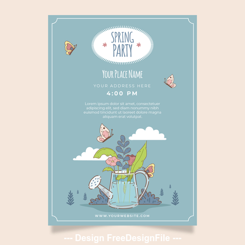 Happy spring party vector