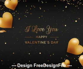 Happy valentines day romantic decorative illustrations vector