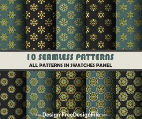Hexagonal petals seamless pattern vector