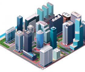 High-rise building layout vector