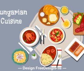 Hungarian cuisine vector