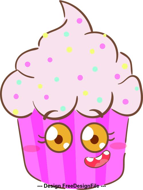 Ice cream cartoon illustration vector