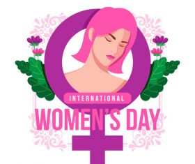 Illustration March 8 womens day vector