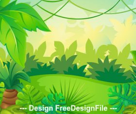 Illustration of beautiful natural landscape vector