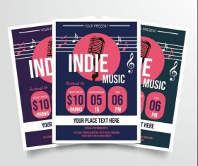 Indie music poster vector