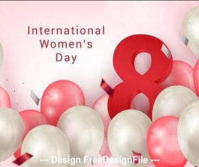 International woman day greeting card vector