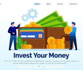 Invest your money cartoon illustration vector