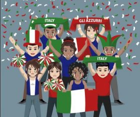 Italy fan club vector