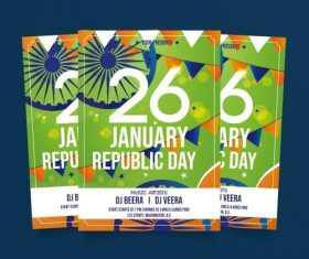 January republic day poster vector